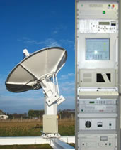Photo of dish and control rack